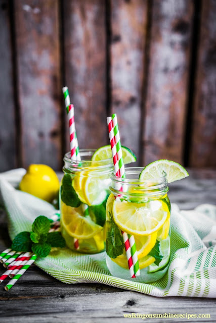 Lemonade with fresh mint from Walking on Sunshine Recipes.