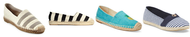 One of these pairs of espadrilles is from Bruno Cucinelli for $1,295 and the other three are under $30. Can you guess which one is the designer pair? Click the links below to see if you are correct!