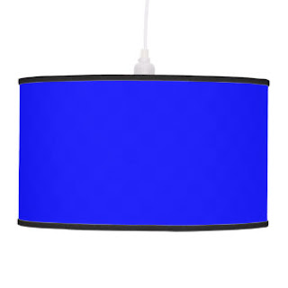 Blue pendant lamp