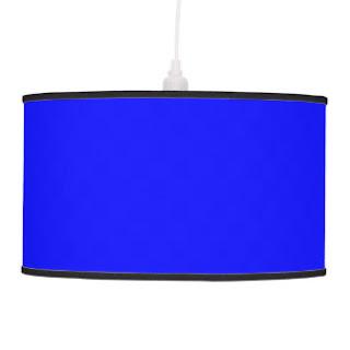Blue pendant lamp