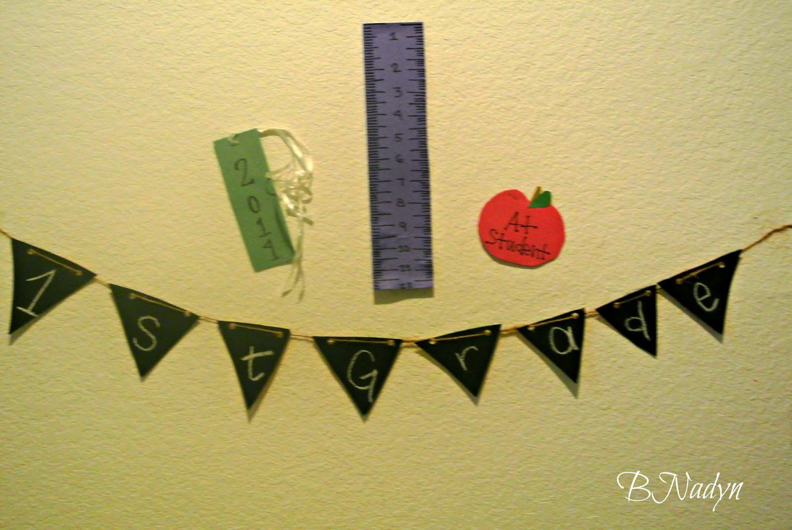 back to school banner, diy banner