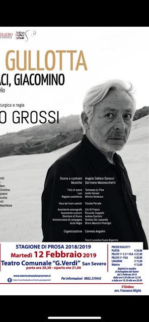 San Severo, al Teatro Verdi martedì 12 febbraio Leo Gullotta con PENSACI, GIACOMINO.