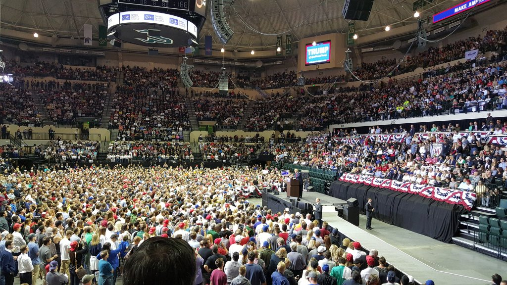 Image result for trump on florida rally