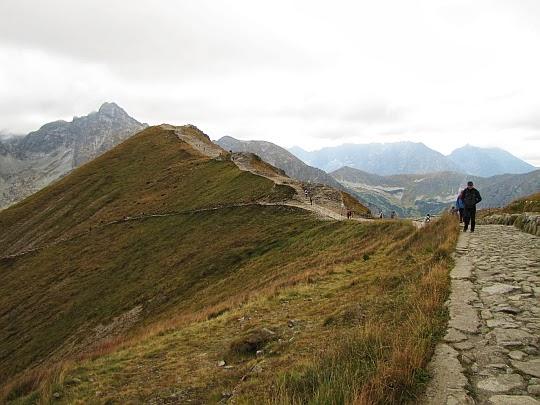 Szlak na Beskid z Kasprowego Wierchu.