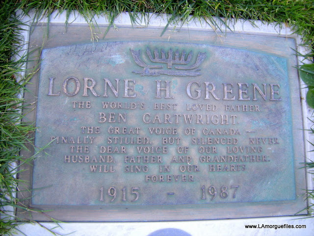 "Los Angeles Morgue Files: ""Bonanza"" Actor Lorne Greene ... Belinda Bennet"