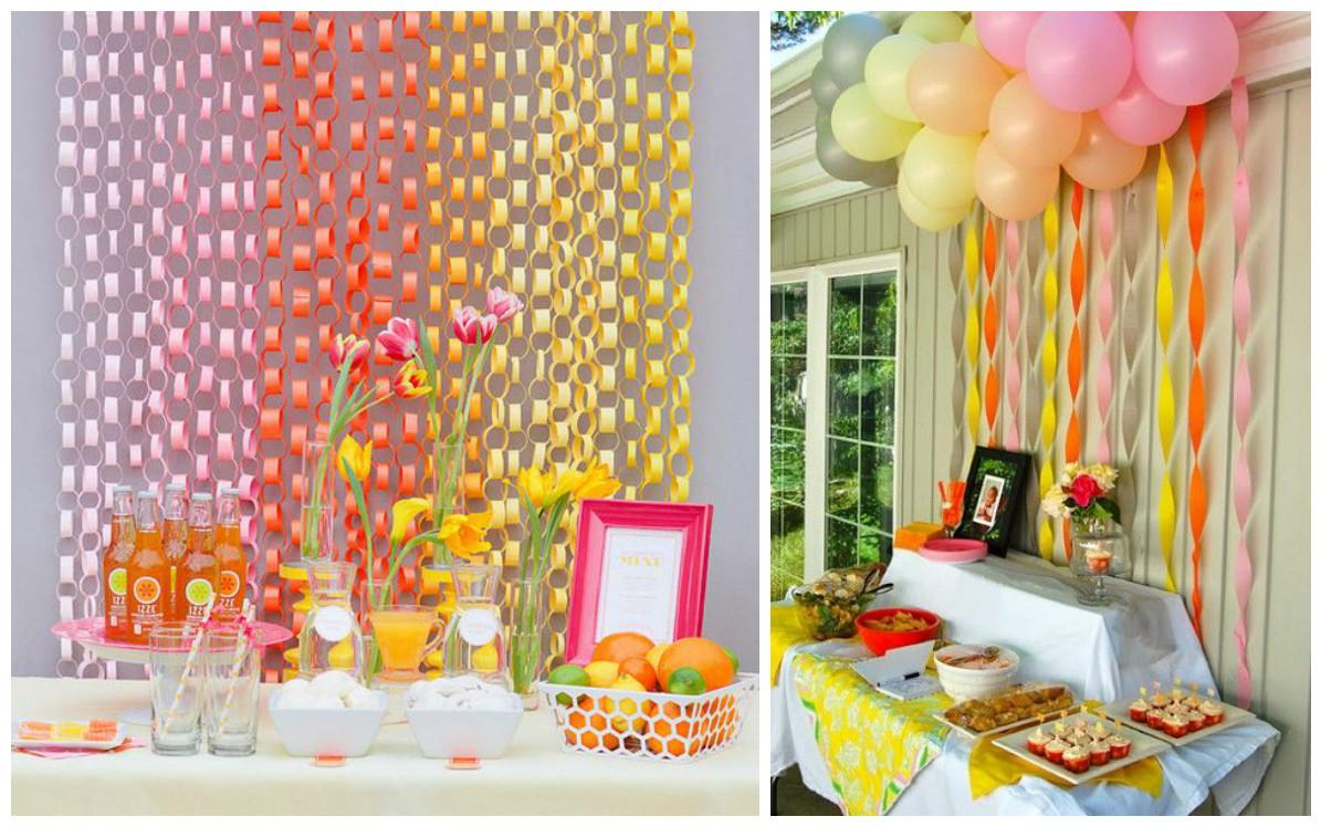12 ideas fabulosas que te ayudaran a decorar tu fiesta con - Papel para decorar pared ...