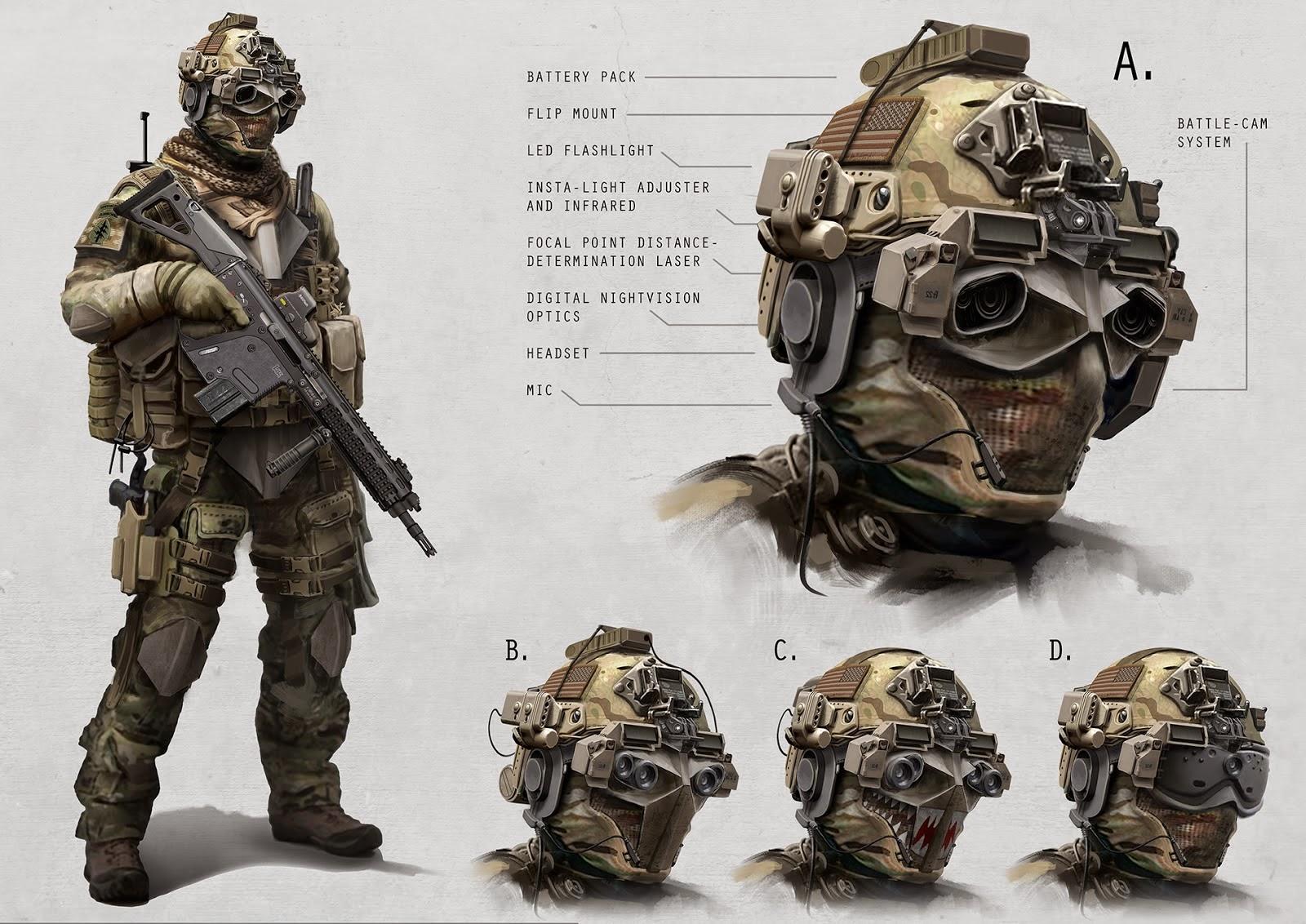Future Soldier Art