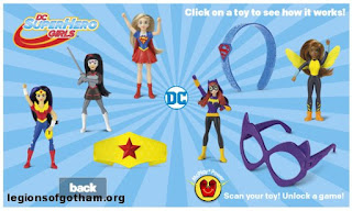 DC Superhero Girls McDonalds Happy Meal Toys