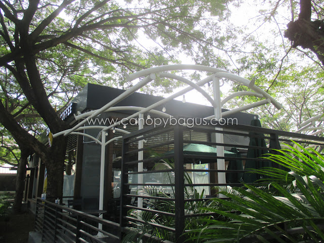 kerangka tenda membrane taman