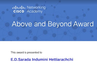 Cisco Above and Beyond Award - 2017