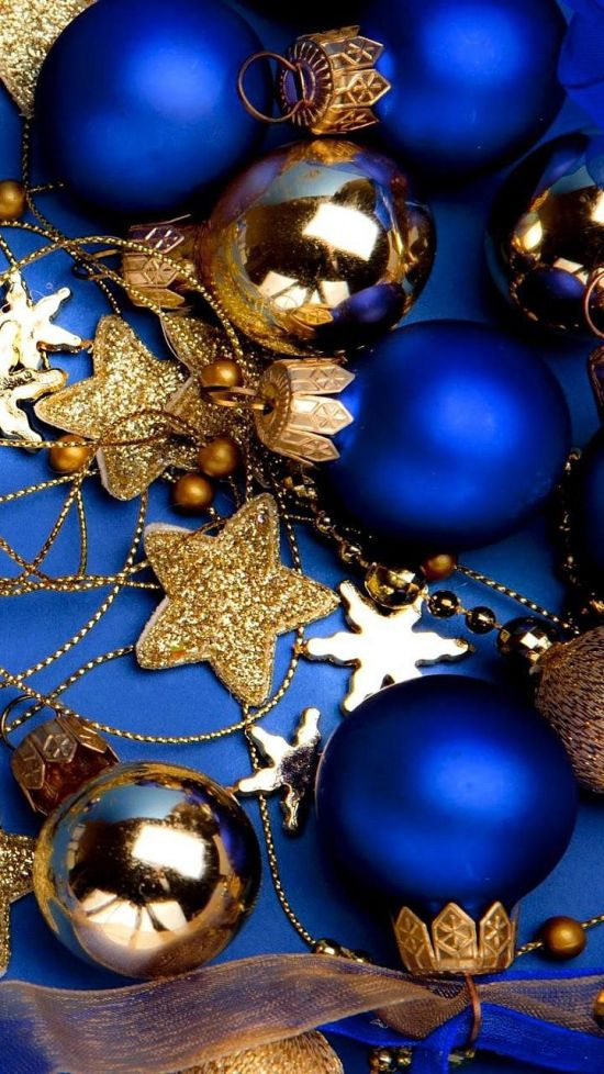 royal blue and gold christmas ball ornaments