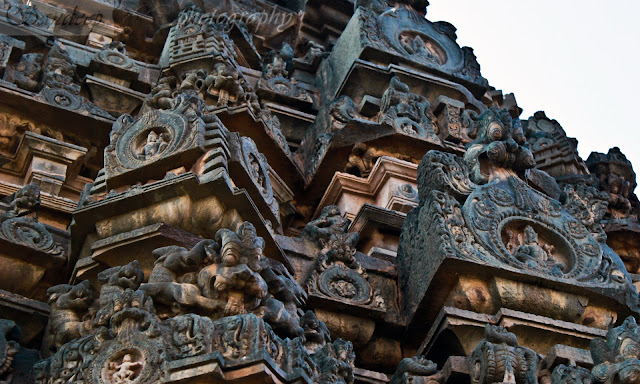 The Shikara of Suryanarayana temple with beautiful sculptures