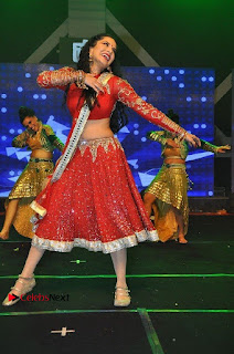 Bollywood Actress Model Sunny Leone Dance Performance in Red Half Saree at Rogue Audio Launch 13 March 2017  0139.jpg