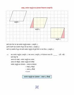 Rectanle Area worksheet in Hindi.