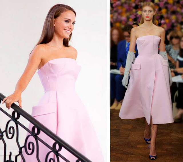 Vestido Rosa da Natalie Portman