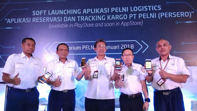 Launching aplikasi Reservasi Cargo Pelni Logistic.