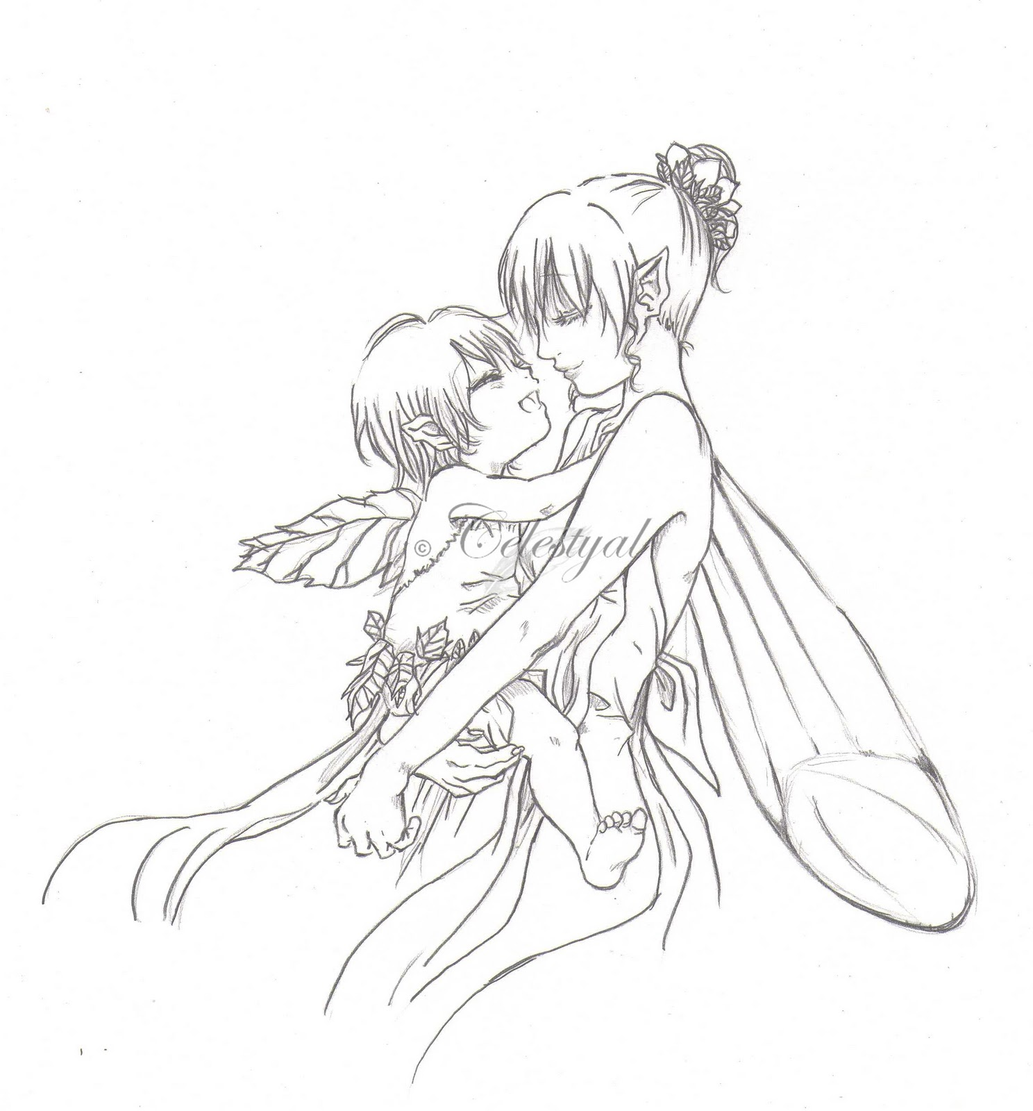 The Whisper of Angels: Fairy Mom and her baby