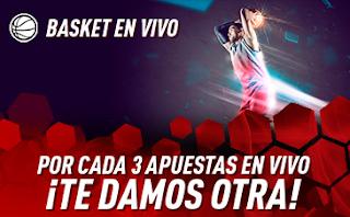 sportium Promo Baloncesto: Cada 3 apuestas En Vivo te damos 1 hasta 5 mayo