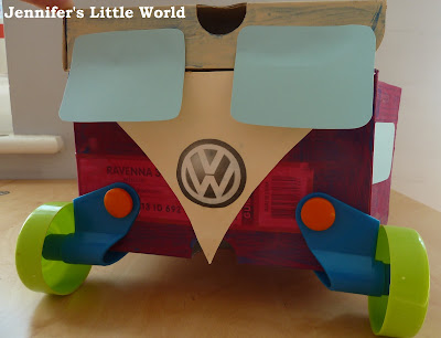 How to make a camper van from a shoebox using Rolobox wheels