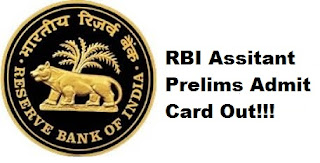RBI Assistant 2017 (Prelims) Admit Card