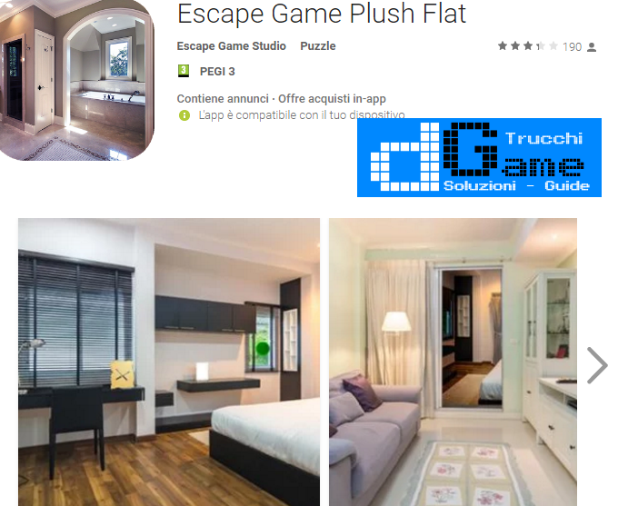 Soluzioni Escape Game Plush Flat di tutti i livelli | Walkthrough guide