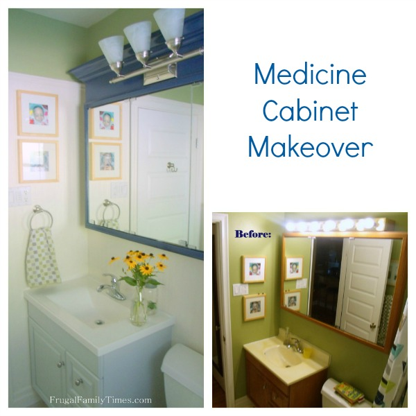 How to update an old dated medicine cabinet on a tight for How to update cabinets