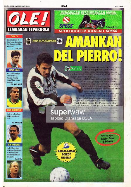 ALESSANDRO DEL PIERO JUVENTUS 1997