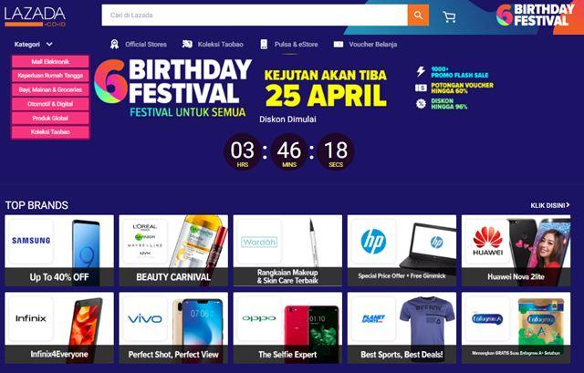 Lazada Birthday Festival Ke-6 - Lazada.co.id
