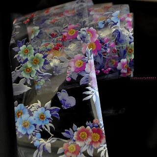 Printed flower transfer foil