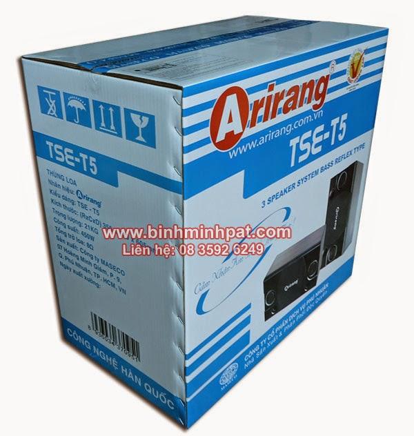 thùng carton in offset khổ lớn - Thùng loa Arirang