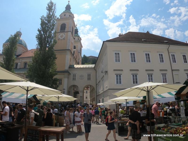 Food Market Ljubljana Eslovênia