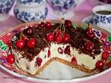 Tarta de Cereza Queso y Yogur de Maracuyá