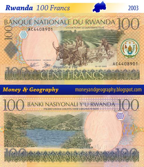 Rwanda 100 Francs banknote from 2003