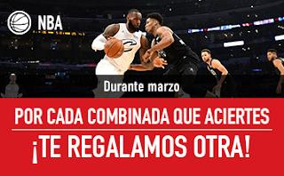 sportium NBA: Promo Combinadas Gratis durante Marzo