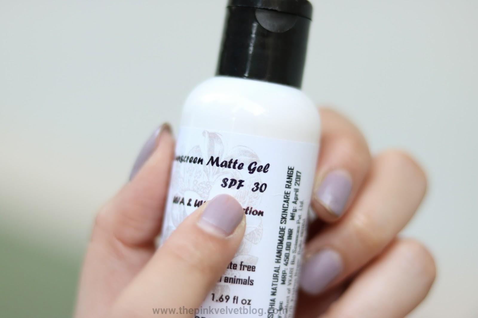 Fuschia Matte Gel Sunscreen SPF 30