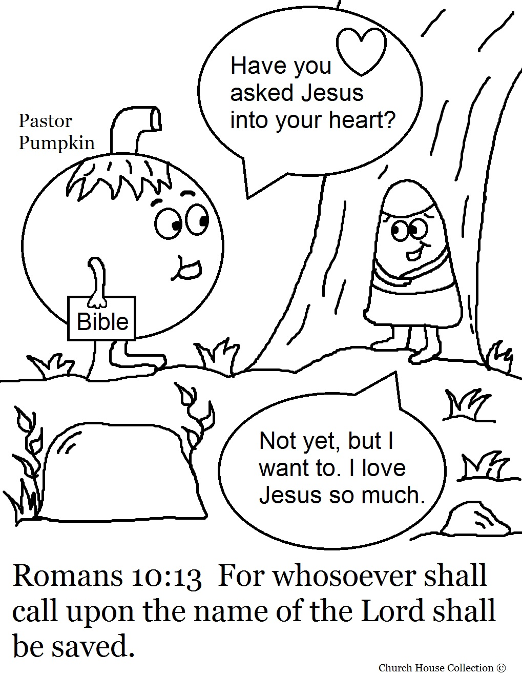 Church House Collection Blog: Pumpkin Coloring Pages For