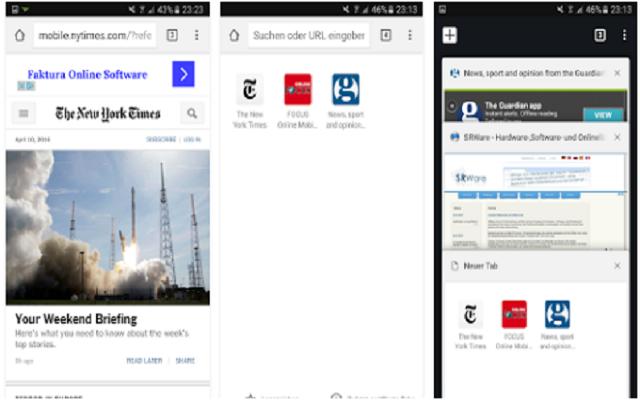 تحميل متصفح الأنترنيت SRWare Iron Android