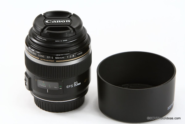 Canon EF-S 60 mm f/2.8 Macro USM w/ ET-67B hood