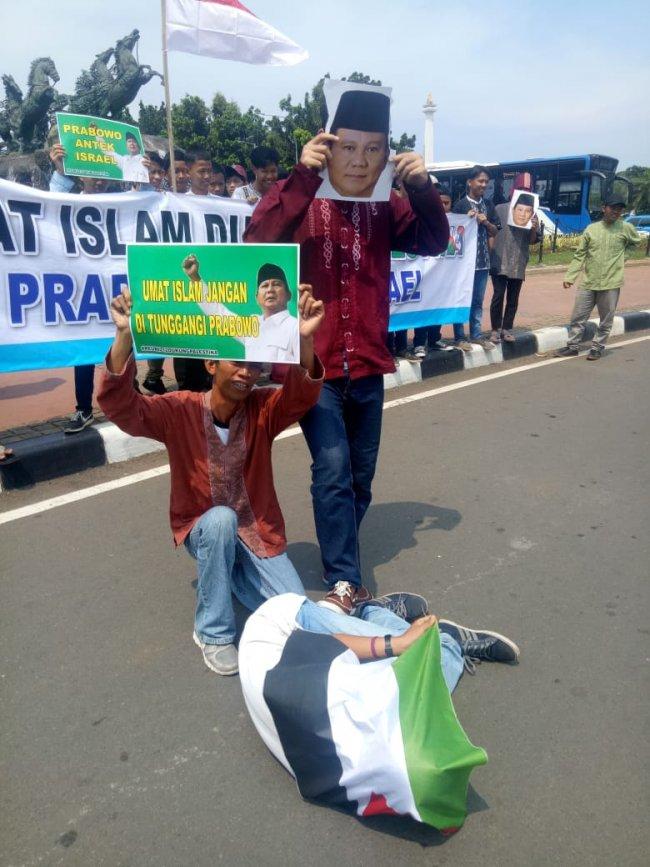 Puluhan Massa API Gelar Aksi Menentang Keras Pernyataan Prabowo