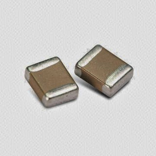 A pair of SMD Capacitor
