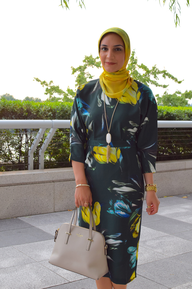 A Day In The Lalz; Tulip Dress; ASOS; Fashion; Modesty; Fashion Blog; Hijab; Kendra Scott; Kate Spade