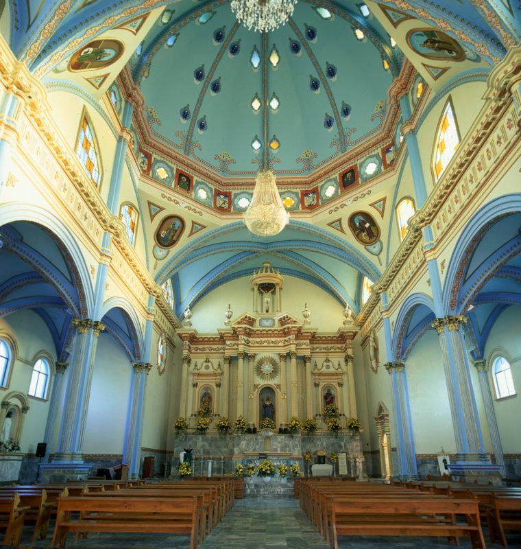 interior de la iglesia de Ometepec