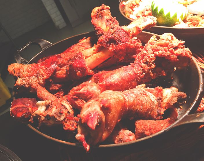 Crunchy pork knuckles at Dusit Thani Manila's The Pantry