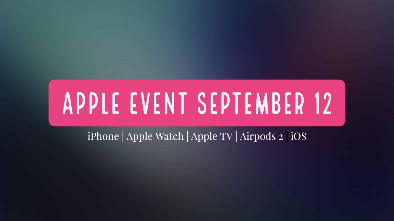 September 12 is a huge day for Apple and all the Apple fans around the world because that day is the day where Apple will launch new products at the event