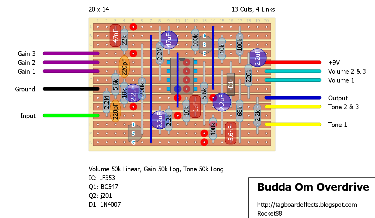 medium resolution of budda om overdrive pedal
