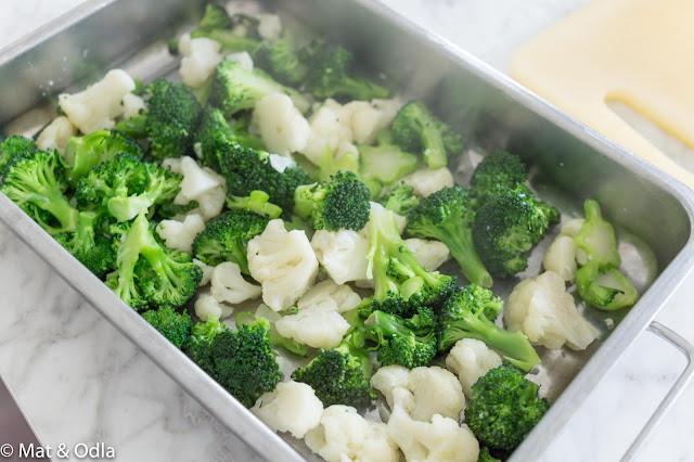 Blomkål och broccoli
