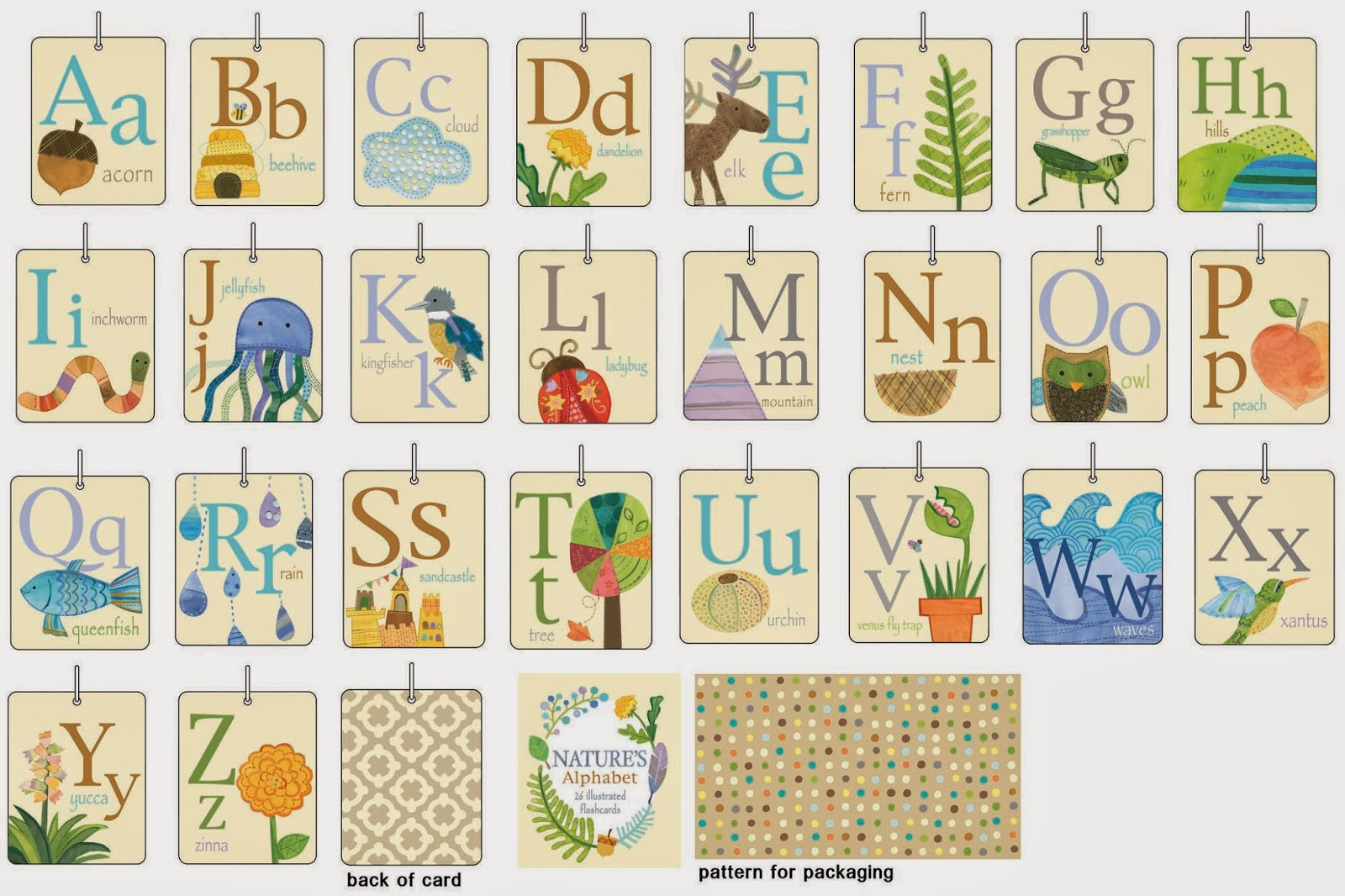 Show And Tell Natures Alphabet Flashcards
