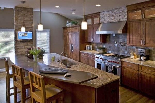 Fotos de cocinas estilo r stico colores en casa for Cocina americana rustica