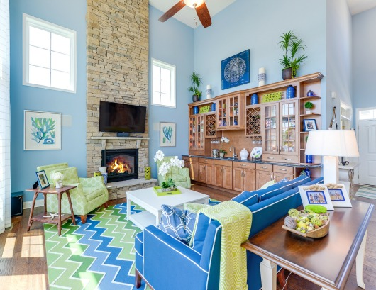 Coastal Blue & Green Interior Design Ideas by Echelon - Completely ...
