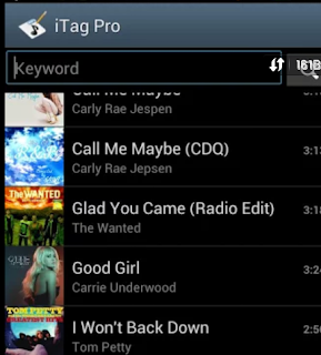 Change the song by Android Audio Tag